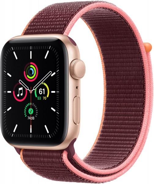 Apple Watch SEGold 44mm Sportarmband Pflaume