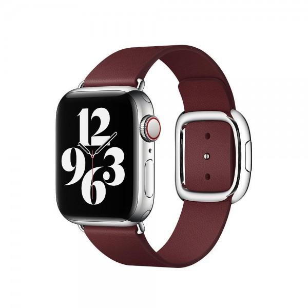 "Apple Modernes Lederarmband""Granat Medium (145-165 mm)"