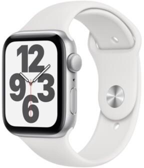 Apple Watch SESilber 44mm Sportarmband Weiss