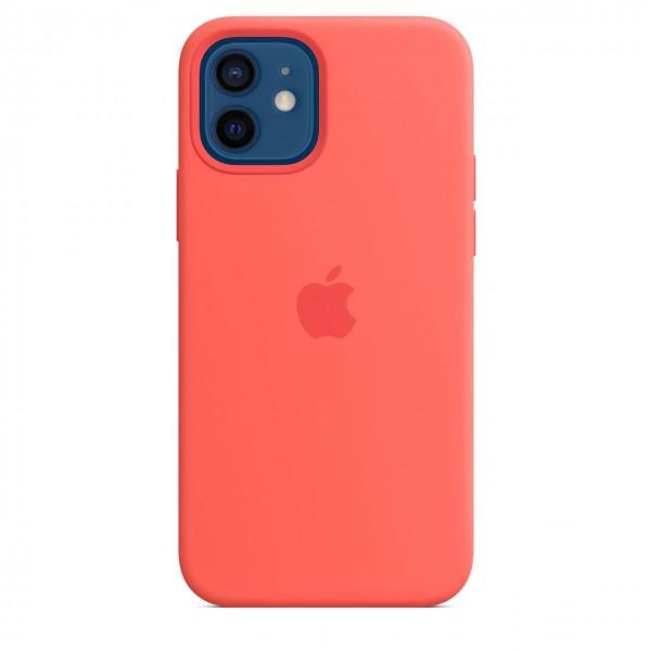 "Apple iPhone 12 / 12 Pro Silikon Case mit MagSafe""Zitruspink"
