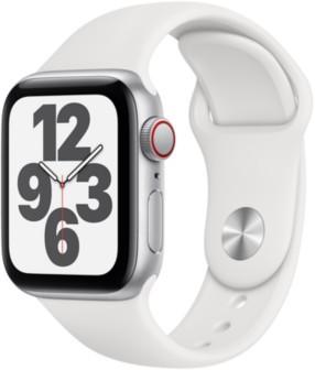 Apple Watch SELTE Silber 40mm Sportarmband Weiss