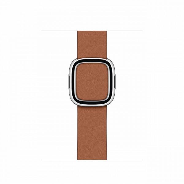 "Apple Watch Modernes Lederarmband""Sattelbraun Medium (145 - 165 mm)"