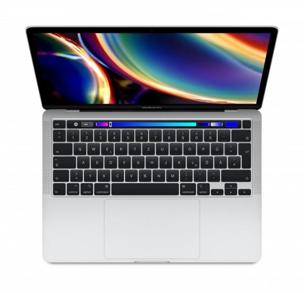 "Apple MacBook Pro 13"", Silber (2020)""2,3GHz Quad-Core Intel Core i7 (10. Gen.) 16GB 1TB SSD Deutsch"