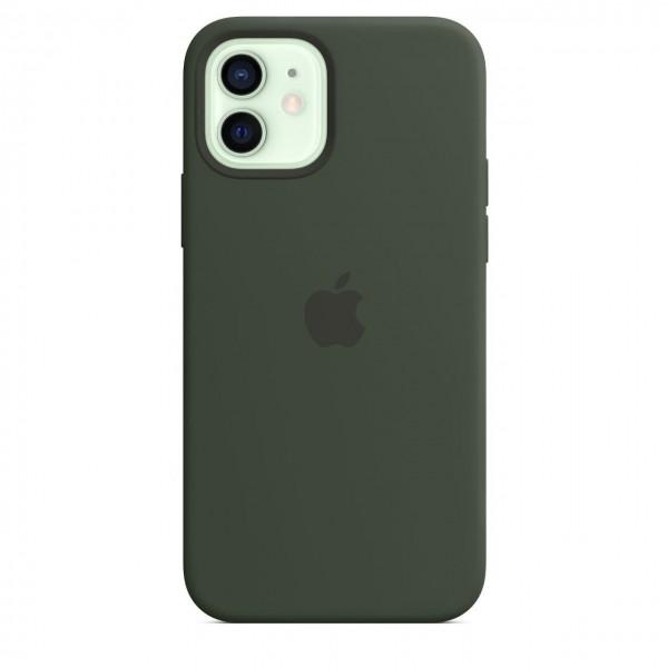 "Apple iPhone 12 / 12 Pro Silikon Case mit MagSafe""Zyperngrün"