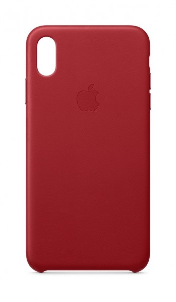 """Apple iPhone XS Max Leder Case""""Rot (PRODUCT)RED"""