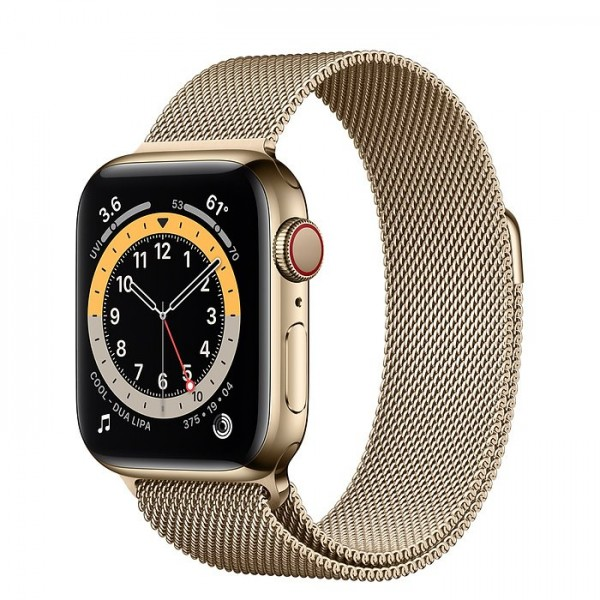 "Apple Watch Series 6 Edelstahl Gold""40 mm Milanaise Armband Gold"