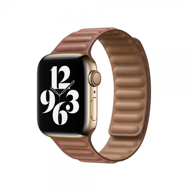 "Apple Lederarmband mit Endstück""Sattelbraun M/L (140-180 mm) 40 mm"
