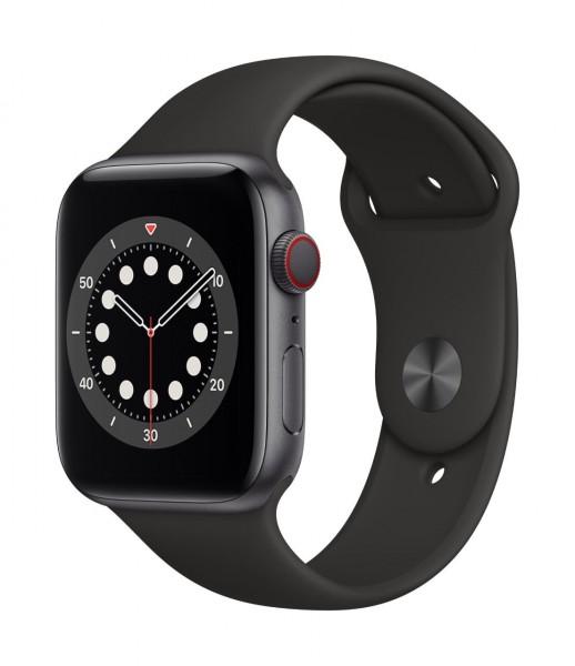 "Apple Watch Series 6 Aluminium Space Grau""44 mm GPS + Cellular"