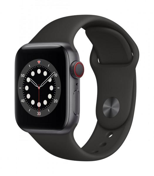 "Apple Watch Series 6 Aluminium Space Grau""40 mm GPS + Cellular"