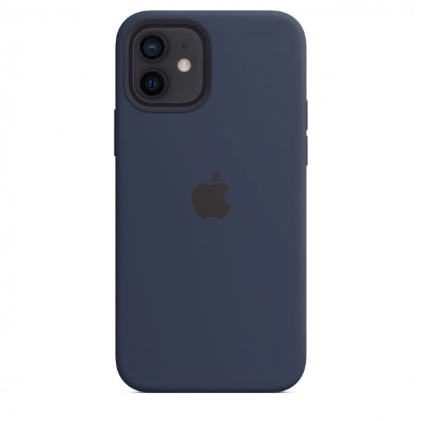 "Apple iPhone 12 / 12 Pro Silikon Case mit MagSafe""Dunkelmarine"